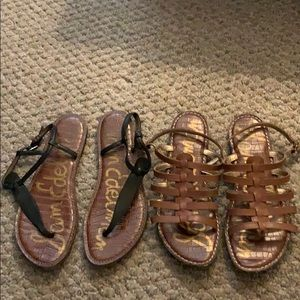 Sam Edelman leather sandals. Two pair. Size 11